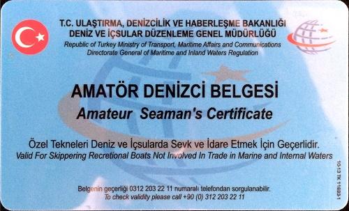 Amatör Denizci Belgesi Nasıl Alınır ?